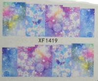 Водная наклейка для дизайна ногтей XF 1419