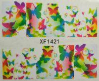 Водная наклейка для дизайна ногтей XF 1421