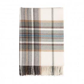 Классический шотландский плед, 100 % стопроцентная шерсть ягнёнка, расцветка Традиционная Клетка - Цвет Шотландской ели TRADITIONAL CHECK- Spruce, плотность 6