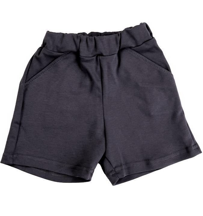 Темно-серые шорты для мальчика 5 лет