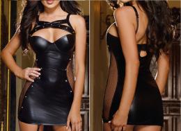 Платье под кожу  размеры  S M L XL, модель 39