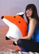 Огромная подушка Лиса