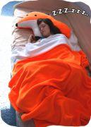 Огромный подарок - мягкая подушка Лиса и плед-хвостик