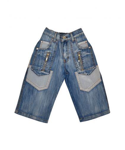 Легкие джинсовые бермуды с карманами