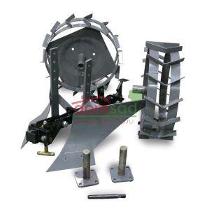 Окучник с металлическими колесами и сцепкой PROFY для Caiman 320