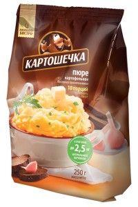 Пюре картофельное КАРТОШЕЧКА 250г в пакете