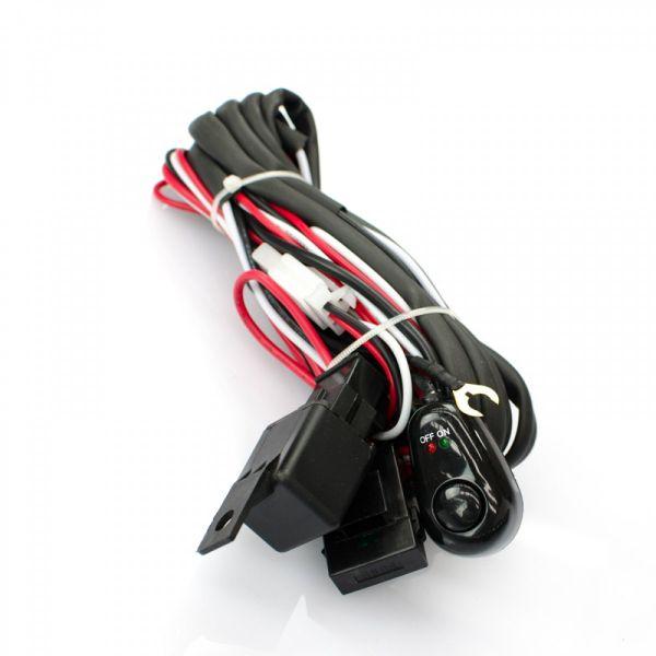 Комплект проводки для подключения четырех фар дополнительного света