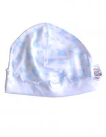 Белая шапочка для новорожденного