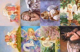Водорастворимая бумага с рисунком Ангелочки 2 216х139мм