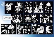 """Наклейки для декорирования """"Зеркальные"""" (в ассортименте 12 дизайнов), TUKZAR (арт. TZ9146)"""