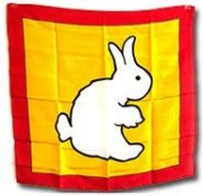 Платок утка-кролик (Размер 50 см*50 см)  (+ ОБУЧЕНИЕ)