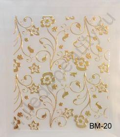 Наклейки 3D BM-20 (золото)