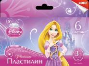 """Пластилин Disney """"Принцессы"""" 6 цветов, с европодвесом (арт. Плд-001)"""