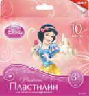 Disney. Пластилин Принцессы, 10 цветов с европодвесом (10099)