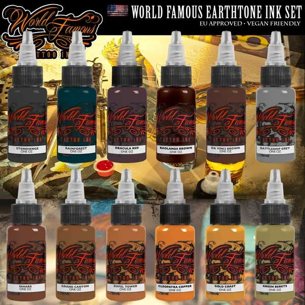 WORLD FAMOUS EARTHTONE INK SET
