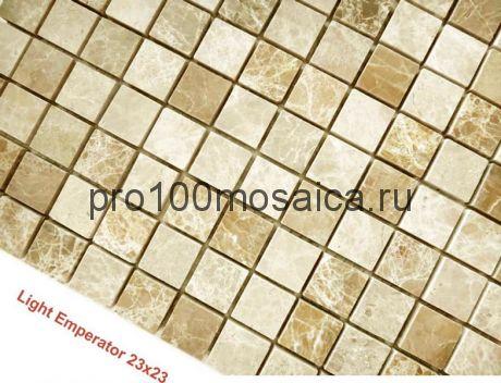 Emperador Light 23 x 23 POL Мозаика серия Pietrine Stone, размер, мм: 298*298*4 (Caramelle)