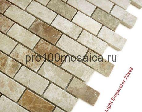 Emperador Light 23 x 48 POL Мозаика серия Pietrine Stone, размер, мм: 298*298*4 (Caramelle)