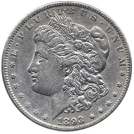Монета Morgan Dollar (3.8 см)