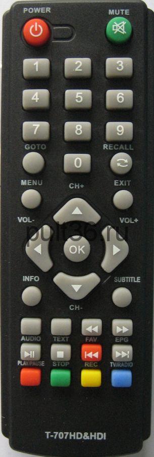 Пульт ДУ DVB-T2 GoldMaster T-707HD&HD1 (SKY Vision Т2108)