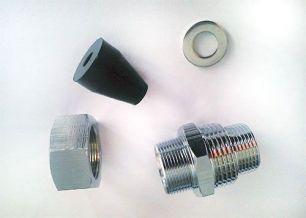 Муфта с двойной резьбой на 3/4 и 1 дюйм для ввода кабеля FrostGuard и DPH-10 в трубу.