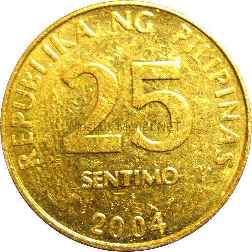 Филиппины 25 сентимо 2004 г.