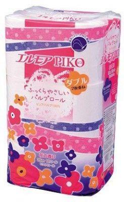 Туалетная бумага 12 рулонов, двухслойная 25м Ellemoi Piko