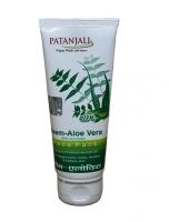 Маска для лица с ним, алое вера и огурцом Патанджали Аюрведа / Divya Patanjali Neem Aloevera Cucumber Face Pack