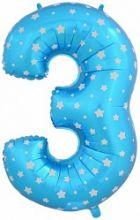 """Фигура """"3""""  (102 см), голубой"""
