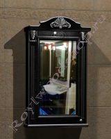 """Подвесной шкаф для ванной комнаты """"Руссильон PROVENCE-60 черное дерево"""" (левое открывание)"""
