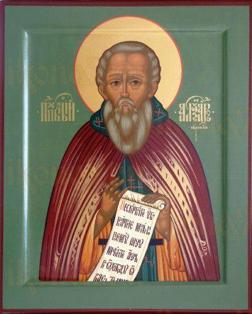Александр Свирский (рукописная икона)