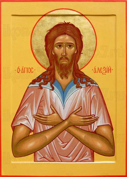 Алексий, человек Божий (рукописная икона)