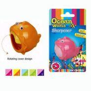 """Точилка """"Ocean World. Рыбка-шар"""", 1 отверстие, с накопителем, блистер (арт. KR970126-1)"""
