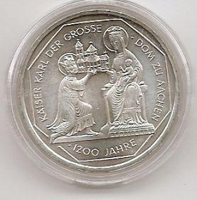 1200 лет Собору в Аахене 10 марок ФРГ 2000 G