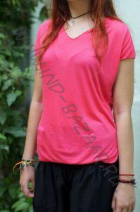 Розовая футболка из мягкого трикотажа