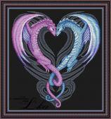 Схема для вышивки крестом Сердце дракона