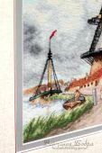 Схема для вышивки крестом Ветряная мельница. Отшив.