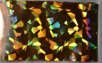 Фольга для дизайна ногтей, литья (переводная). Цвет: золото осколки (Размер: 4см на 1 метр)