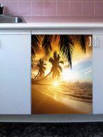 Наклейка на посудомоечную машину - Пляж 2