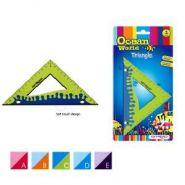 """Треугольник """"Ocean World. Soft touch"""", 45°, 12см, обрезиненный корпус, блистер (арт. KR970563-1)"""