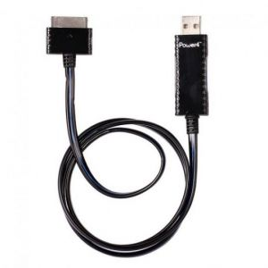 Кабель USB Apple iPhone 2G/3G/3GS/4/4S (black/blue) Светящийся!!!