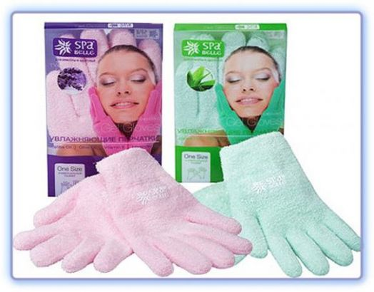 Увлажняющие SPA перчатки из микрофибры