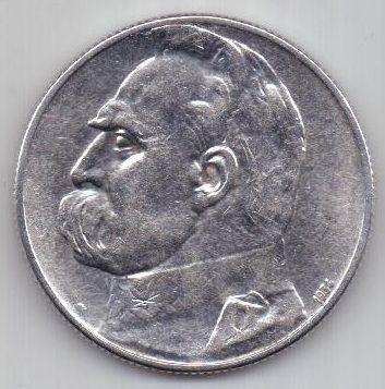 5 злотых 1934 года Легионер UNC Польша