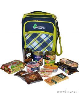 """Подарочная сумка-холодильник """"К походу готов!"""" вкусности + посуда для пикника"""