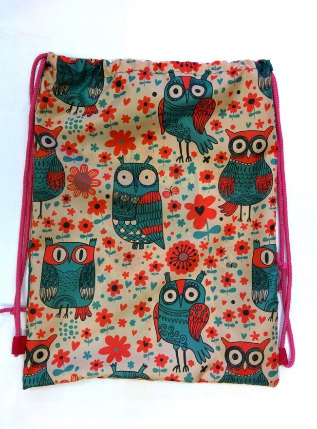 Мешок для обуви  ПодЪполье Owls and flowers малый