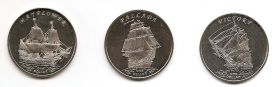 Знаменитые Парусники Набор монет 1 доллар Острова Гилберта 2014 (2 серия монет)