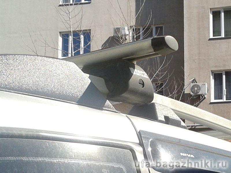 Багажник на крышу - аэродинамические дуги на рейлинги Chevrolet Niva, Евродеталь