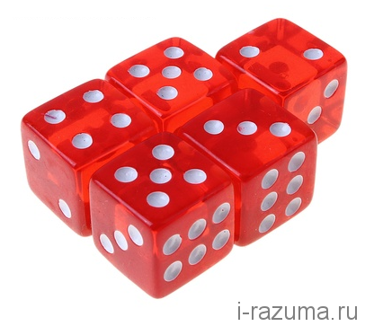 Кубик D6 16 мм. Разноцветный