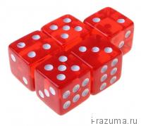 Кубик D6 акриловый