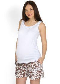 """Шорты """"Лисбет"""" коричневые с цветами для беременных"""