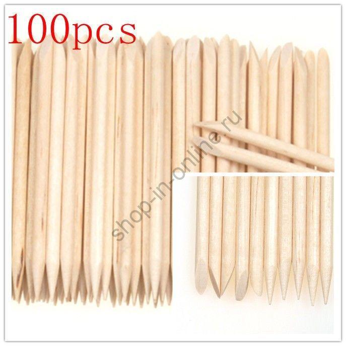 Палочки  из апельсинового дерева для маникюра 100 шт. ME03600